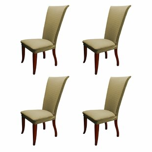Basket Weave Stretch Polyester Dining Chair Slipcover (Set of 4) by Charlton Home