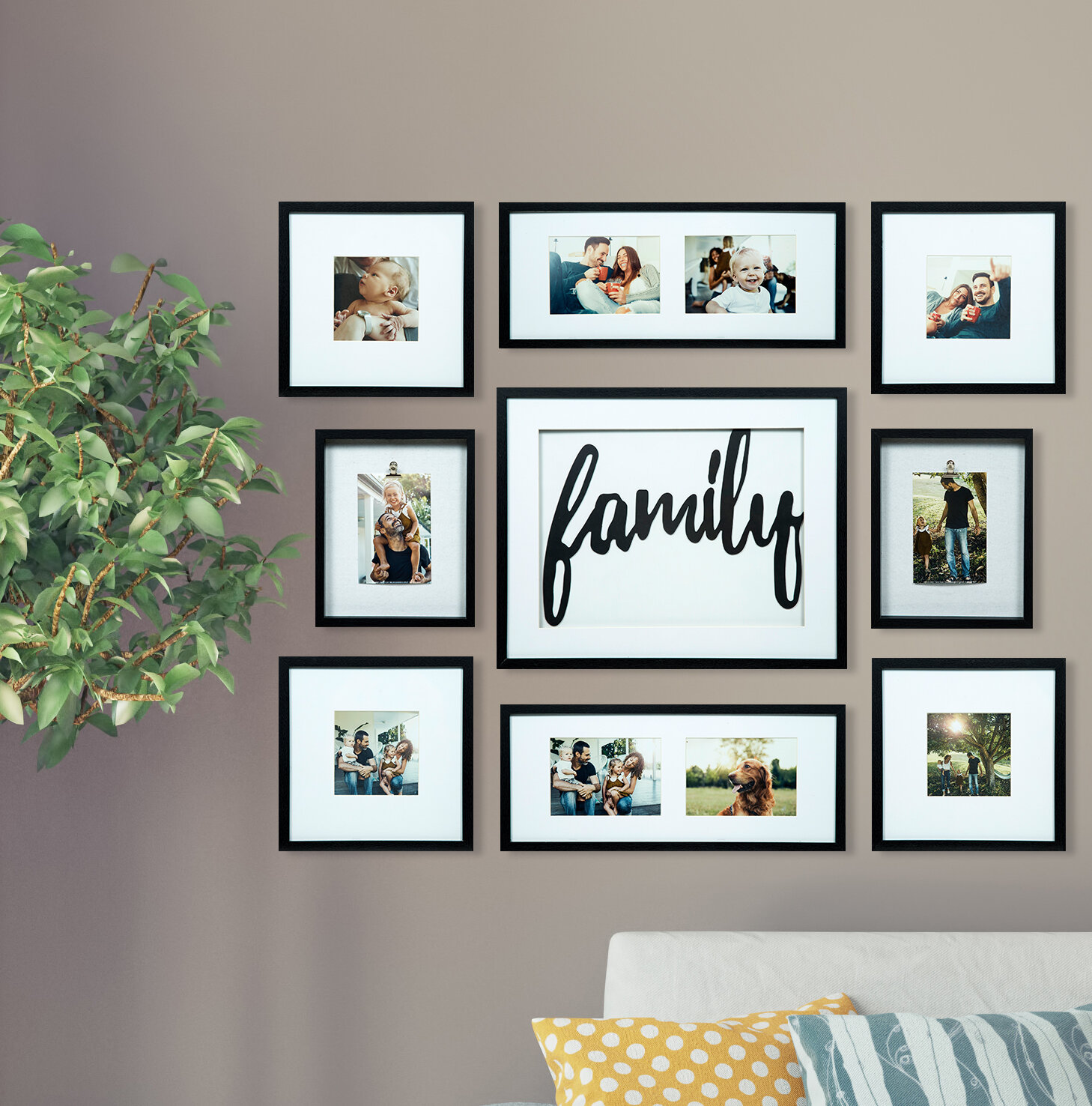 Broderick 8 Piece Family Decor Picture Frame Set