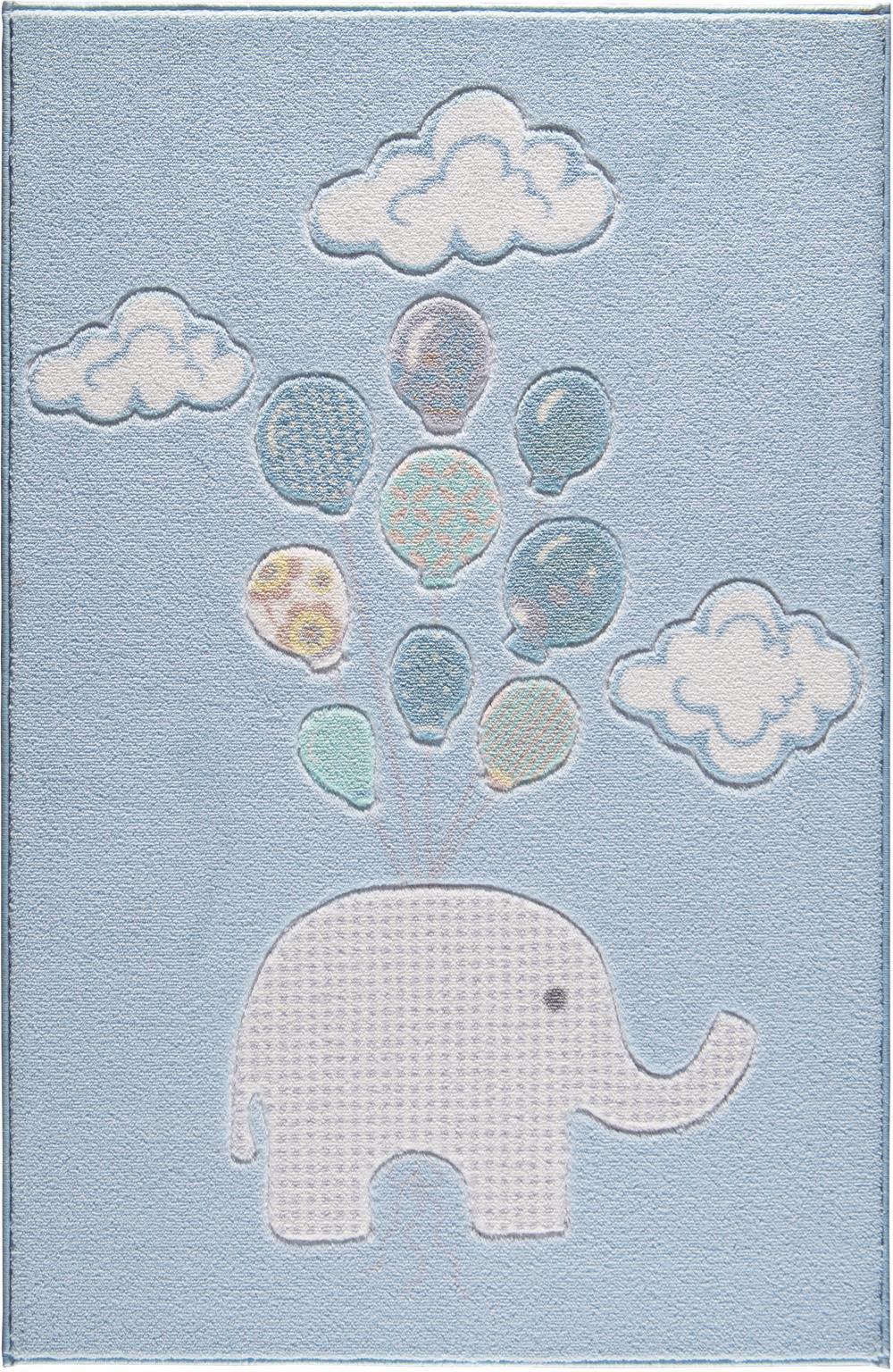 Zoomie Kids Iowa Animal Print Dhurrie Blue Area Rug Wayfair