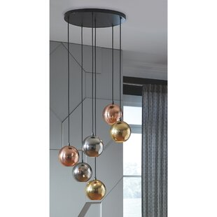 Cardine 6-Light Cluster Pendant by Orren Ellis