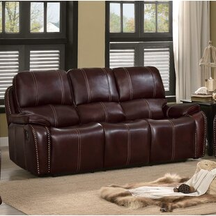 Shop Theo Upholstered Dual Recliner Sofa by Red Barrel Studio