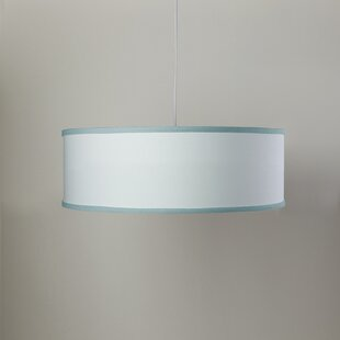 Oilo White Shallow 3-Light Cylinder Pendant