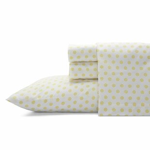Fiorella 200 Thread Count Floral / Flower 100% Cotton Percale Sheet Set