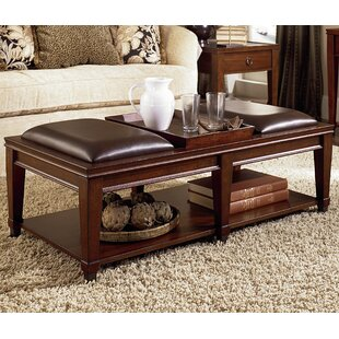 Affordable Price Langer Coffee Table with Tray Top by Millwood Pines