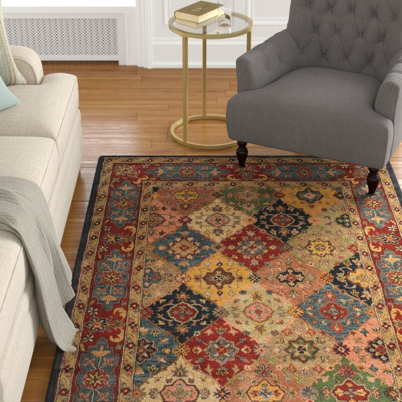 Astoria Grand Balthrop Oriental Handmade Tufted Wool Red Blue Cream Area Rug Reviews Wayfair