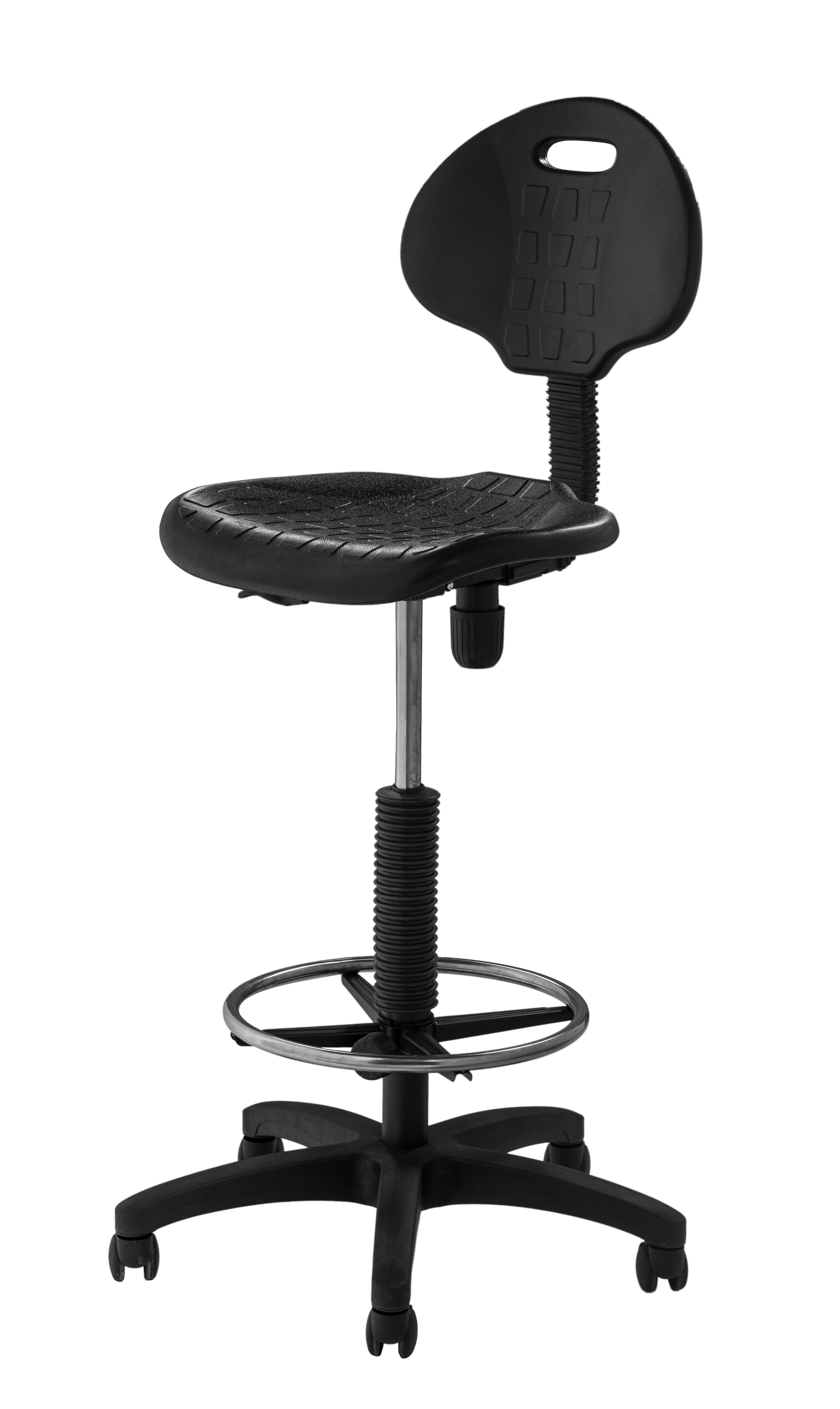 National Public Seating Height Adjustable Self Skin Polyurethane Stool With  Backrest U0026 Reviews | Wayfair