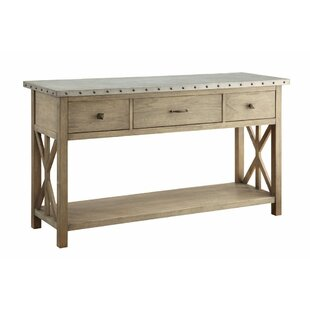 Prabhu Wood and Metal Storage Buffet Table by One Allium Way