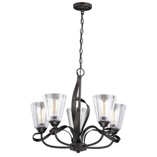 Gracie Oaks Zermeno 5-Light Shaded Chandelier