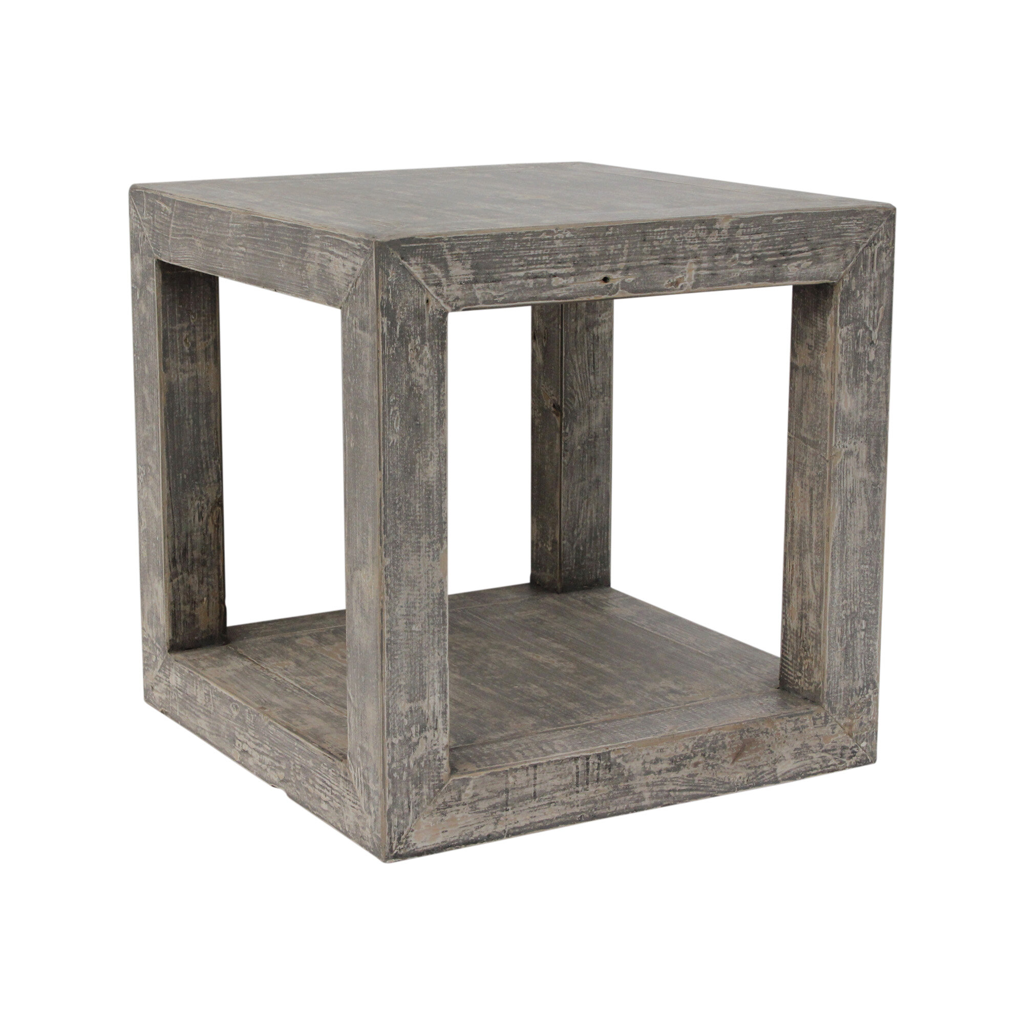 World Menagerie Leyton Solid Wood Block End Table Wayfair
