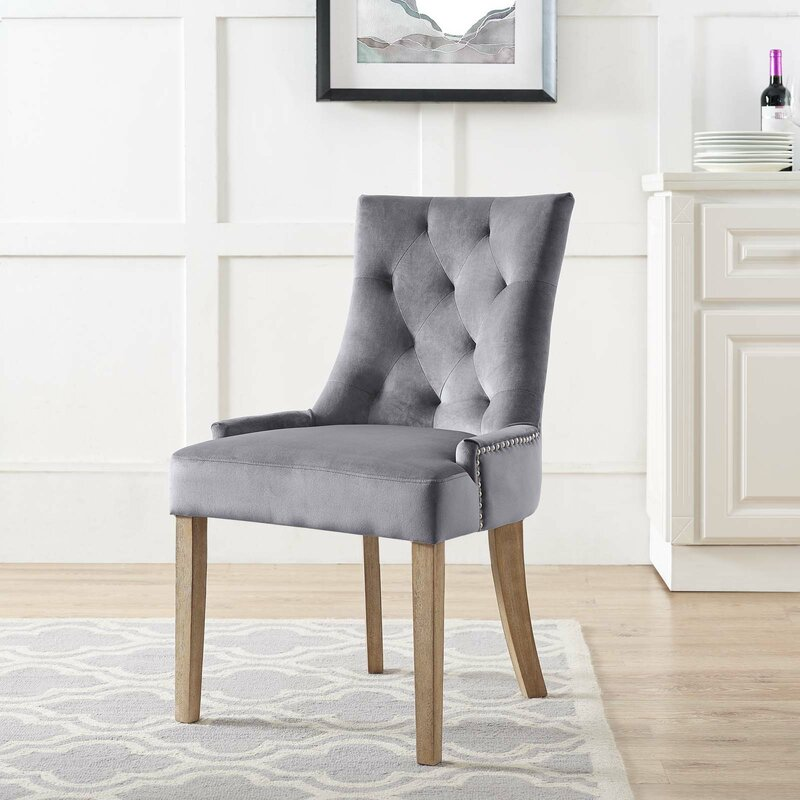 House Of Hampton Lenoir Velvet Upholstered Dining Chair Reviews Wayfair