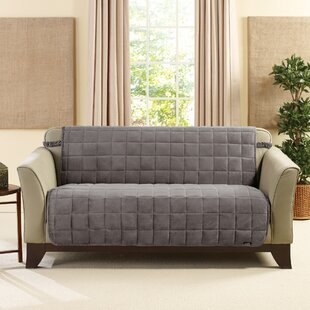 Deluxe Comfort Quilted Armless Box Cushion Loveseat Slipcover