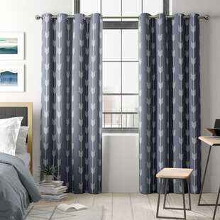 Brendle Geometric Blackout Thermal Grommet Curtain Panels (Set of 2) by Ivy Bronx