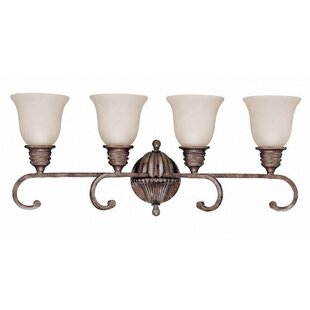 Fleur De Lis Living Brierley Crackle Bullion 4-Light Vanity Light