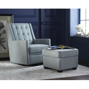 West Hill Swivel Glider and Ottoman by Mercury Row