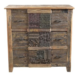 Catherine 3 Drawer Standard Chest by Loon Peak