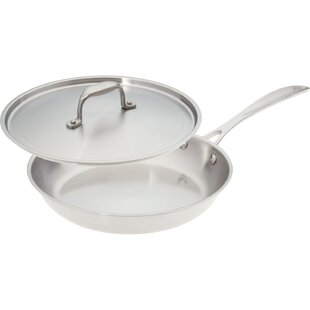 Premium Stainless Steel Skillet with Lid
