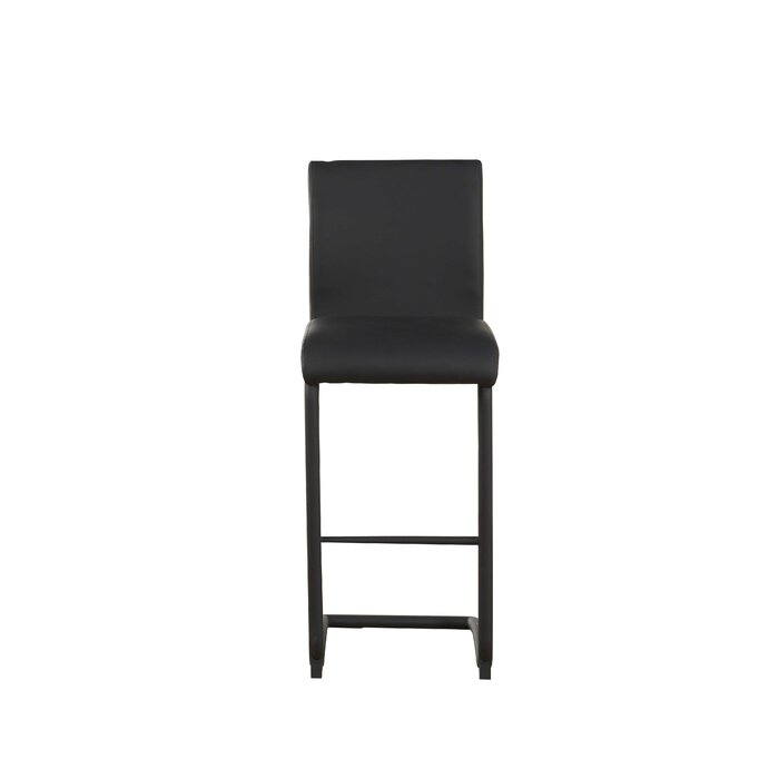 orren ellis len modern counter height upholstered dining chair