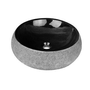 Find a Elvis Stone Circular Vessel Bathroom Sink By Maykke