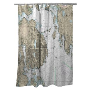 Ellisburg Frenchman Bay, Mount Desert Island, ME Polyester Single Shower Curtain