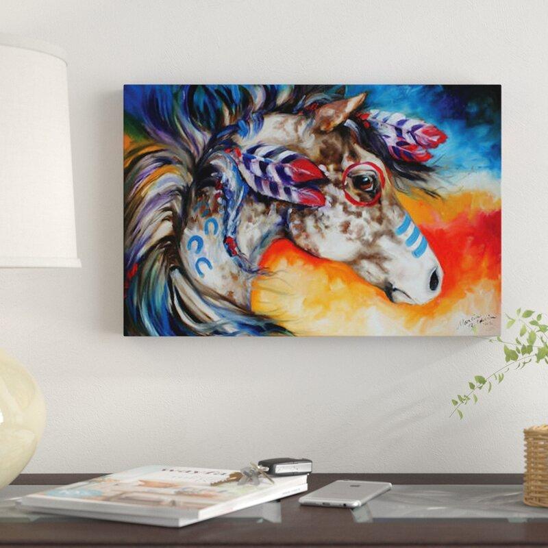 'Appaloosa Indian War Horse' Print on Canvas