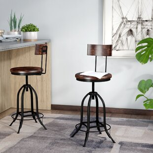 Nevada Height Adjustable Swivel Bar Stool By Borough Wharf