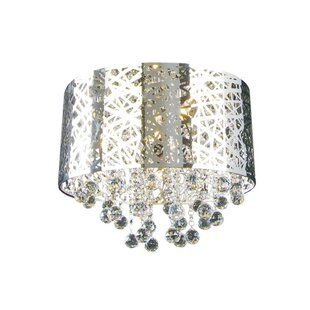 Rosdorf Park Loftis 9-Light Flush Mount