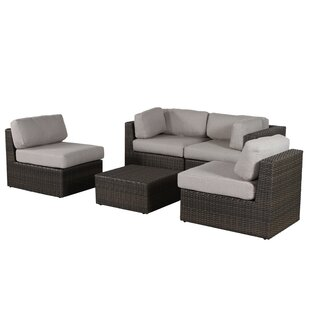 Rosecliff Heights Sabin 5 Piece Sofa Set with Cushions