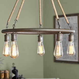 Fillmore 5-Light Wagon Wheel Chandelier by August Grove