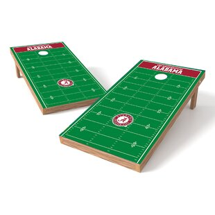 Tailgate Toss NCAA Football Field Cornhole Game Set