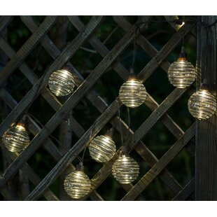 Winsome House Glass Balls with Metal Wire 10-Light Globe String Lights