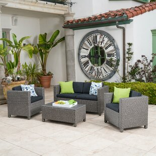 Phillip 4 Piece Sofa Set with Cushions