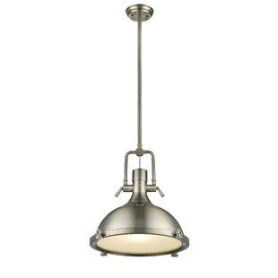 Williston Forge Nolan Antique Brass 1-Light Dome Pendant