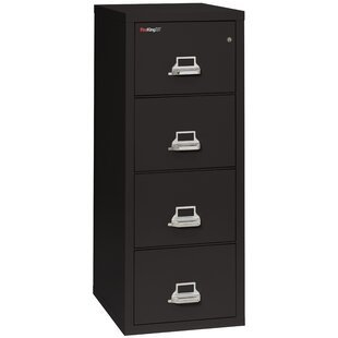 Fireproof 4-Drawer Vertical File Cabinet by FireKing