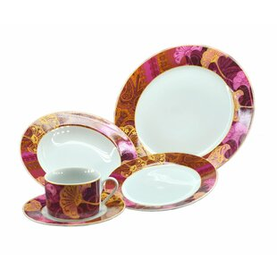 Floral 16 Piece Dinnerware Set, Service for 4