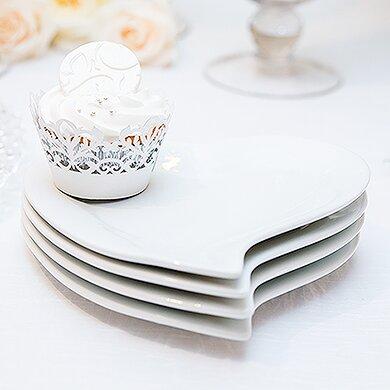 Heart Shaped Plate & Weddingstar Heart Shaped Plate u0026 Reviews | Wayfair