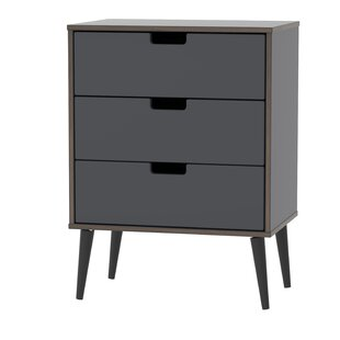 Fairbury 3 Drawer Chest By Mercury Row