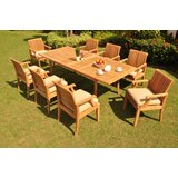 Livingon Luxurious 9 Piece Teak Dining Set