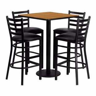 Pinckneyville 5 Piece Pub Table Set Red Barrel Studio