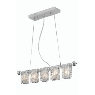 Orren Ellis Darcelle 5-Light Kitchen Island Pendant