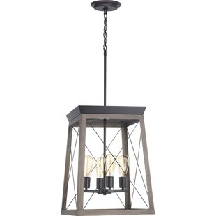 Laurel Foundry Modern Farmhouse Delon 4-Light Lantern Chandelier