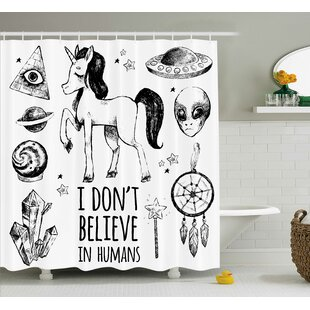 Unicorn Occult with Pyramids Single Shower Curtain