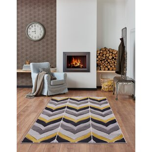 Gruver Silver/Ochre Indoor/Outdoor Rug By Brayden Studio