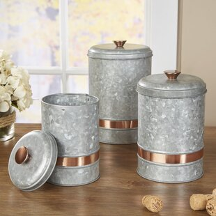 Mertz Galvanized Kitchen Canister