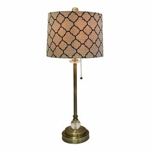 Michaelis Eggshell Moroccan Print 28 Table Lamp