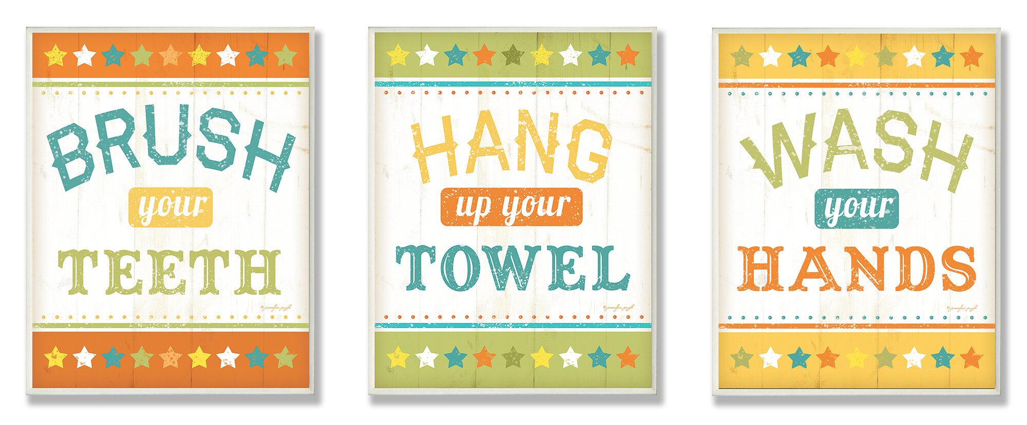 Zoomie Kids Kleckner Brush Your Teeth Hang Your Towel And Wash Your