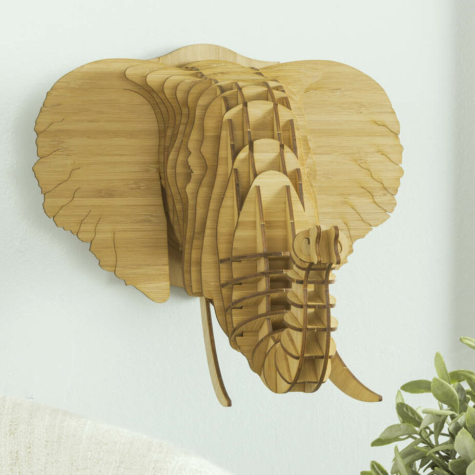 Antler Home Eyan the Bamboo Elephant Head Wall Décor | Wayfair