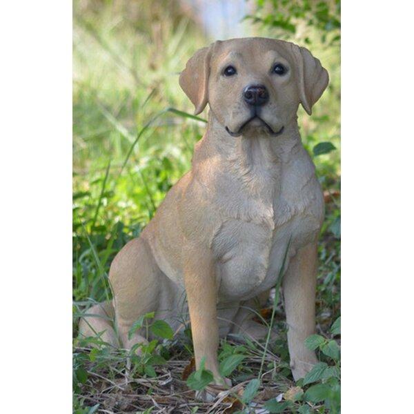 Yellow Labrador Retriever Dog Breed Classy Round Chrome Plated Metal Keychain