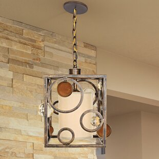 Lauver 1-Light Square/Rectangle Pendant by Latitude Run