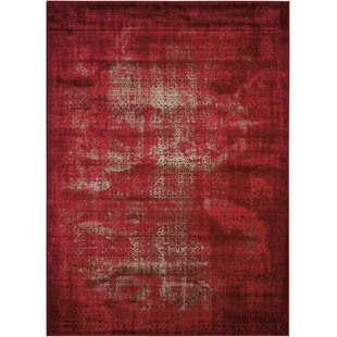 Saliba Red Area Rug