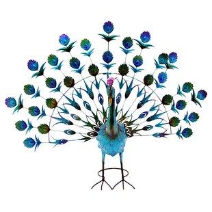 Genial Tatiana Metal Painted Peacock Garden Ornament